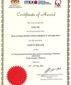 MALAYSIAN INNOVATIVE PRODUCT AWARD 2010